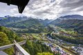 Mountain temple view from yamadera in yamagata japan Stock Photos