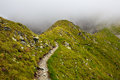 Mountain trail landscape with in fagaras mountains romania Stock Images