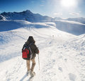 Mountain trekking Royalty Free Stock Photography