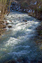 Mountain trout stream located in mountains of central virginia Royalty Free Stock Photography