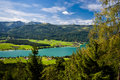 Mountain vacation at the lake in Austria Royalty Free Stock Photo