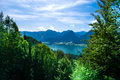 Mountain vacation at the lake in Austria Royalty Free Stock Photography
