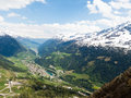 Mountain and valley Royalty Free Stock Photography