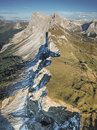 Mountain valley in the Italy alps Royalty Free Stock Photo