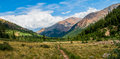 Mountain vally a picture of a valley next to mt elbert Royalty Free Stock Photos