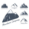 Mountain vector silhouette nature outdoor rocky snow ice top decorative landscape travel climbing hill peak hiking