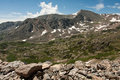 Mountain View from Arapahoe Pass Trail Royalty Free Stock Image