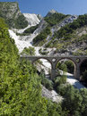 Mountain view, Carrara marble quarries, Italy Royalty Free Stock Photos