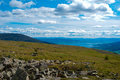 Mountain view central khangai mongolia Royalty Free Stock Photo