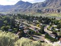 Mountain view of a city neighbourhood residential in kamloops Royalty Free Stock Image