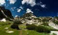 Mountain View mit grüner ökologischer Natur Lizenzfreies Stockfoto