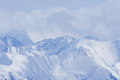 Mountain view snowy white tops of the alps Stock Images