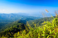 Mountain view thailand against blue sky Royalty Free Stock Images