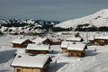 Mountain village in alps french avoriaz Stock Photography