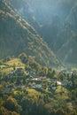 Mountain Village in Autumn Royalty Free Stock Photo