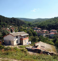 Mountain village in Bulgaria Royalty Free Stock Image