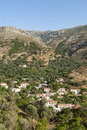 Mountain village crete southwestern creece europe Stock Images