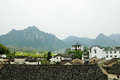 Mountain village in jiapeng anhui china Royalty Free Stock Images
