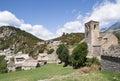 Mountain village, Pyrenees, Spain Royalty Free Stock Photo