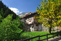 Mountain village of st remy aosta valley italy the alpine saint traditional houses region Royalty Free Stock Photos