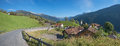 Mountain village in the swiss alps Royalty Free Stock Photo