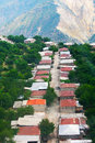 Mountain village view from altitude halidzor fron in armenia Royalty Free Stock Photography