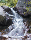 Mountain waterfall fast stream water in romania Royalty Free Stock Images