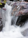 Mountain waterfall fast stream water in romania Stock Photo