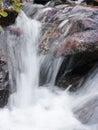 Mountain waterfall fast stream water in romania Stock Photo