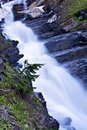 Mountain waterfall montana small spring in wilderness Stock Photo