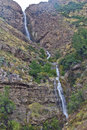 Mountain and waterfall Royalty Free Stock Photo