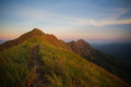 Mountain the way of climax slope have a way for walk Royalty Free Stock Photography