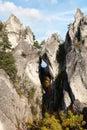 Mountain window in Sulovske Skaly rockies in slovakia