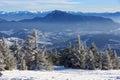 Mountain winter scene