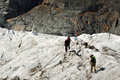 Mountaineers on Gorner-Glacier Royalty Free Stock Photo