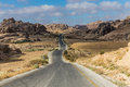 Mountainous curvy roads in jordan road near the ancient city of petra Royalty Free Stock Photography