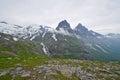 Mountainous landscape around Norwegian fjord Stock Photo