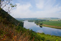 Mountainous landscape with the river Dnister Stock Photos