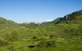 Mountainous Landscape in Spring Green Royalty Free Stock Photo