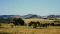 Mountainous landscape in Swaziland Royalty Free Stock Photo