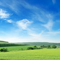 Mountainous terrain and the blue sky Royalty Free Stock Photography
