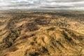 Mountainous terrain of madagascar aerial view the the the highland areas Royalty Free Stock Photos