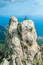 Mountains against blue sky ai petri crimea ukraine Stock Photography