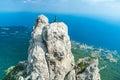Mountains against blue sky ai petri crimea ukraine Royalty Free Stock Photography