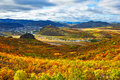 The mountains all red and storied dip autumn photo taken in chinas inner mongolia autonomous region hulun buir city yakeshi Stock Images