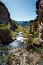 Mountains in altai mountain river nature Stock Image