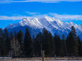 Mountains beautiful mountain view in winter Royalty Free Stock Photography