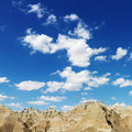 Mountains and Blue Sky in the South Dakota Badland Stock Photography