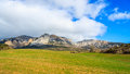 Mountains of codes photography the sierra de from the village azuelo Stock Image