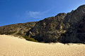 Mountains and desert sand close to malibu in california usa Royalty Free Stock Photo